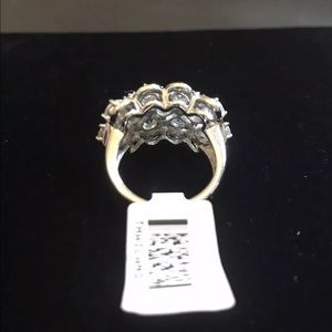 JTV Jewelry - Sterling Silver White Zircon Large Ring